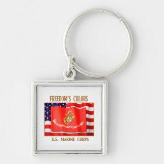 U.S. Marine Corps Premium Square Keychain