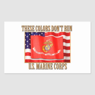 U.S. Marine Corps Rectangle Stickers