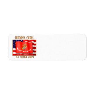 U.S. Marine Corps Return Address Label