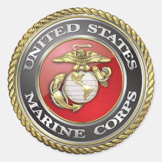 U.S. Marine Corps (USMC) Emblem [3D] Classic Round Sticker