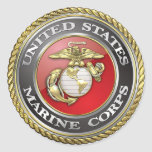 U.S. Marine Corps (USMC) Emblem [3D] Round Sticker