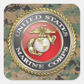 U.S. Marine Corps (USMC) Emblem [3D] Square Sticker