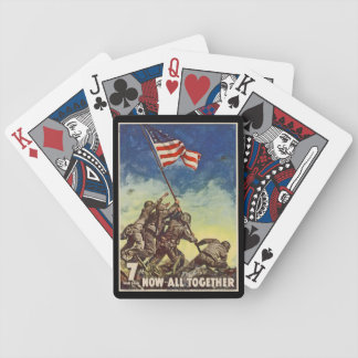 "U.S. Marine Corps Vintage ""Now All Together"" Bicycle Playing Cards"