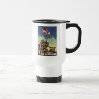 "U.S. Marine Corps Vintage ""Now All Together"" Stainless Steel Travel Mug"