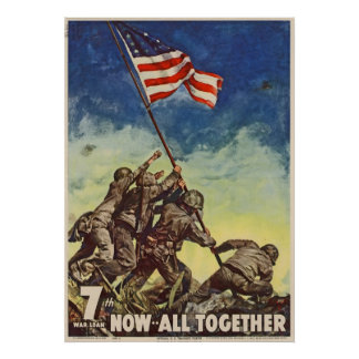 "U.S. Marine Corps Vintage ""Now All Together"" Poster"