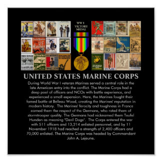U.S. Marine Corps World War 1 Recruiting Posters