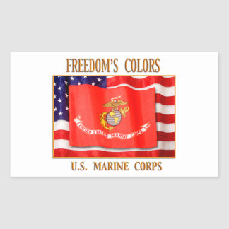 U.S. Marine Corps Your Custom Rectangle Stickers