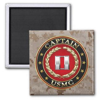 U.S. Marines: Captain (USMC Capt) [3D] Square Magnet