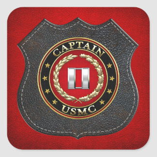 U.S. Marines: Captain (USMC Capt) [3D] Square Sticker