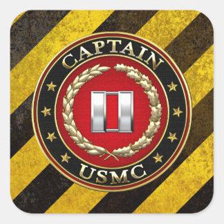 U.S. Marines: Captain (USMC Capt) [3D] Square Sticker