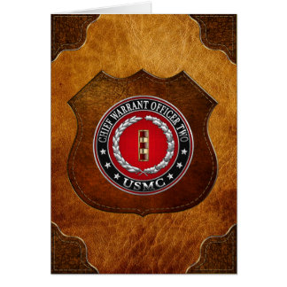 U.S. Marines: Chief Warrant Two (USMC CWO-2) [3D] Card