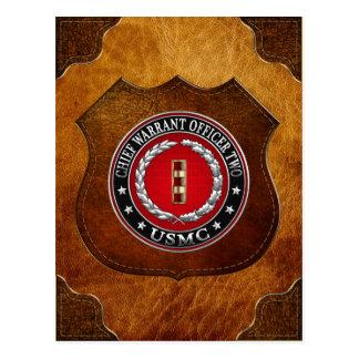 U.S. Marines: Chief Warrant Two (USMC CWO-2) [3D] Postcard