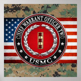 U.S. Marines: Chief Warrant Two (USMC CWO-2) [3D] Poster