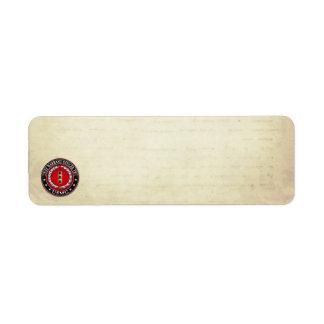 U.S. Marines: Chief Warrant Two (USMC CWO-2) [3D] Return Address Label