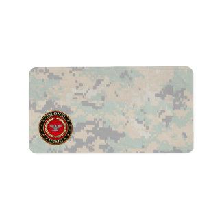 U.S. Marines: Colonel (USMC Col) [3D] Address Label