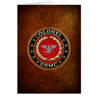 U.S. Marines: Colonel (USMC Col) [3D] Card