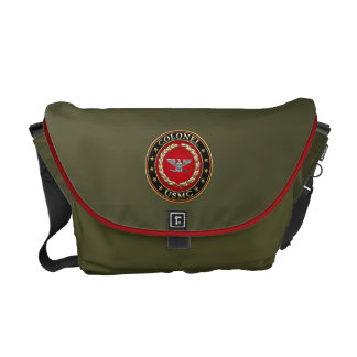 U.S. Marines: Colonel (USMC Col) [3D] Messenger Bag