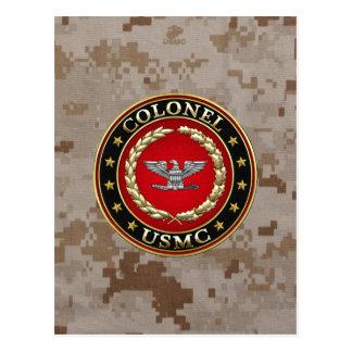 U.S. Marines: Colonel (USMC Col) [3D] Postcard