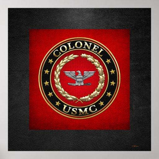 U.S. Marines: Colonel (USMC Col) [3D] Poster