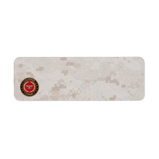 U.S. Marines: Colonel (USMC Col) [3D] Return Address Label