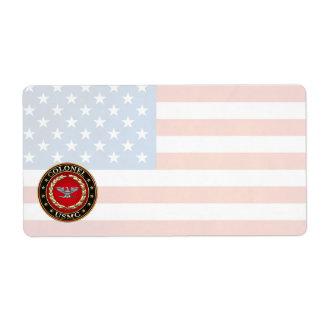U.S. Marines: Colonel (USMC Col) [3D] Shipping Label