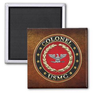 U.S. Marines: Colonel (USMC Col) [3D] Square Magnet