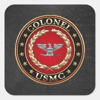 U.S. Marines: Colonel (USMC Col) [3D] Square Sticker