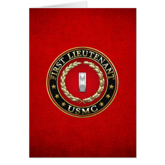 U.S. Marines: First Lieutenant (USMC 1stLt) [3D] Card