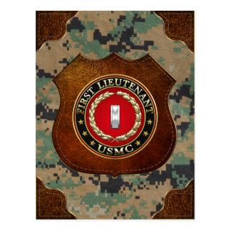 U.S. Marines: First Lieutenant (USMC 1stLt) [3D] Postcard