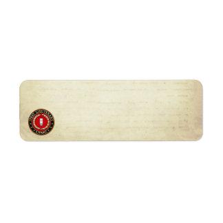 U.S. Marines: First Lieutenant (USMC 1stLt) [3D] Return Address Label