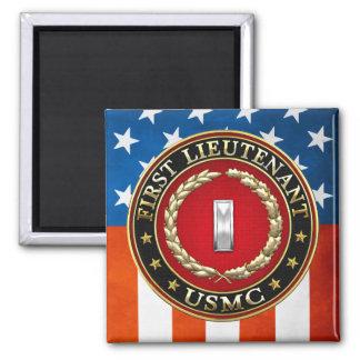 U.S. Marines: First Lieutenant (USMC 1stLt) [3D] Square Magnet