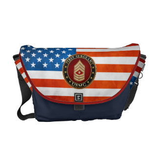 U.S. Marines: First Sergeant (USMC 1stSgt) [3D] Courier Bag