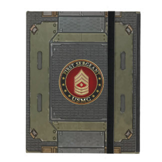 U.S. Marines: First Sergeant (USMC 1stSgt) [3D] iPad Case