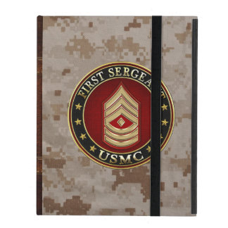 U.S. Marines: First Sergeant (USMC 1stSgt) [3D] iPad Cover