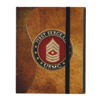 U.S. Marines: First Sergeant (USMC 1stSgt) [3D] iPad Folio Case