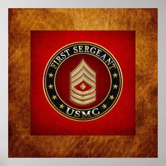U.S. Marines: First Sergeant (USMC 1stSgt) [3D] Poster