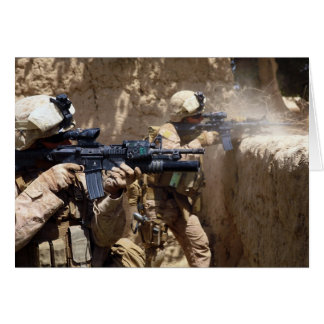 U.S. Marines in Helmand Province of Afghanistan Card