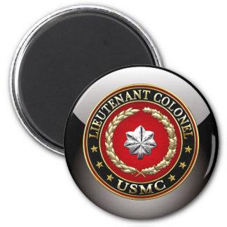 U.S. Marines: Lieutenant Colonel (USMC LtCol) [3D] 6 Cm Round Magnet