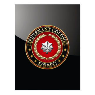 U.S. Marines: Lieutenant Colonel (USMC LtCol) [3D] Postcard