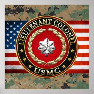 U S Marines Lieutenant Colonel USMC LtCol 3D Posters