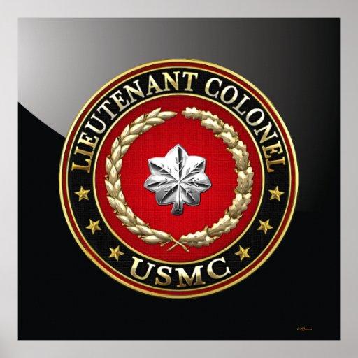 U.S. Marines: Lieutenant Colonel (USMC LtCol) [3D] Posters