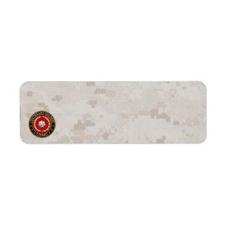 U.S. Marines: Lieutenant Colonel (USMC LtCol) [3D] Return Address Label