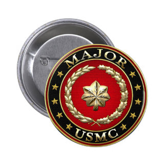 U.S. Marines: Major (USMC Maj) [3D] 6 Cm Round Badge