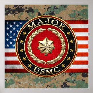 U S Marines Major USMC Maj 3D Posters