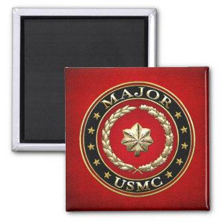 U.S. Marines: Major (USMC Maj) [3D] Square Magnet