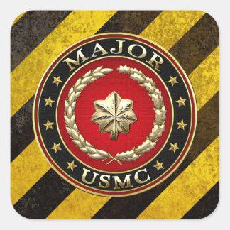 U.S. Marines: Major (USMC Maj) [3D] Square Sticker