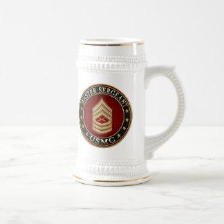U.S. Marines: Master Sergeant (USMC MSgt) [3D] Beer Stein