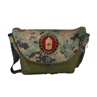U.S. Marines: Master Sergeant (USMC MSgt) [3D] Messenger Bag
