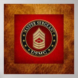 U.S. Marines: Master Sergeant (USMC MSgt) [3D] Poster