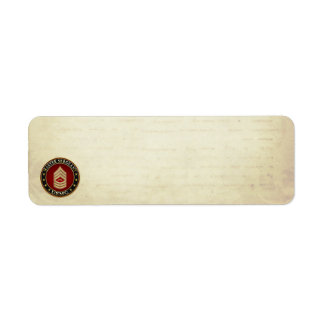 U.S. Marines: Master Sergeant (USMC MSgt) [3D] Return Address Label